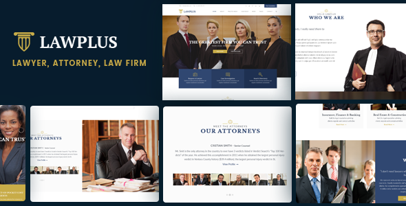 Download LawPlus - Lawyer, Attorney, Law Firm WordPress Theme
