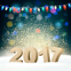 Happy New Year Background with 2017