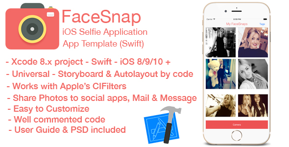 Download FaceSnap - iOS Selfie Application nulled download