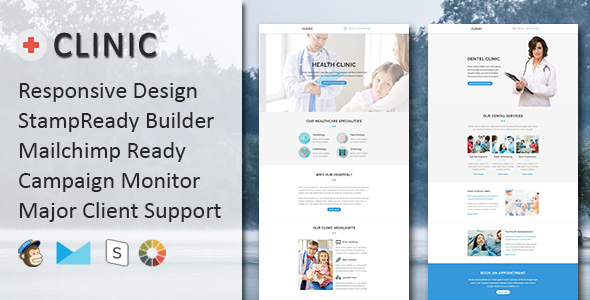 CLINIC - Multipurpose Responsive Email Template with Stampready Builder