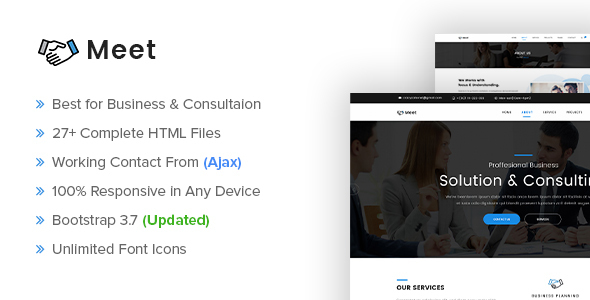 Meet - Business and Consultation Responsive Template