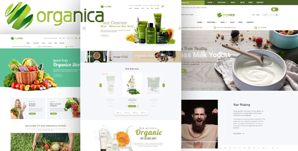 Download Organica - Organic, Beauty, Natural Cosmetics, Food, Farn and Eco WordPress Theme nulled download