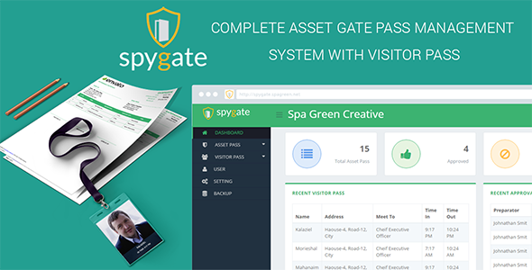 SPYGATE – Asset Pass And Visitor Pass Management Program Pro (Project Management Tools)