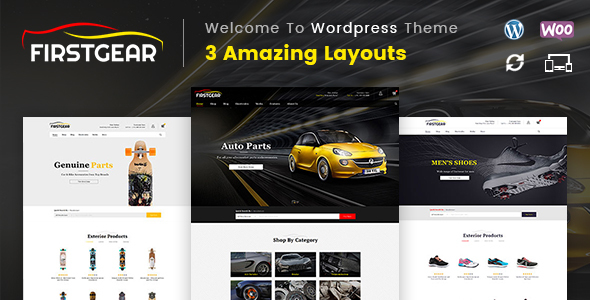 FirstGear - Multipurpose WooCommerce Theme