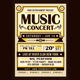 Vintage Music Concert Typography
