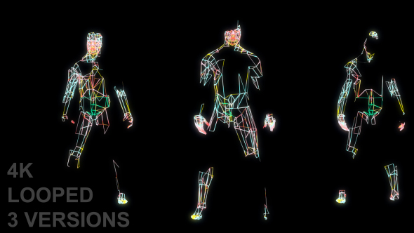 VideoHive Dancing With Grid Lines 19244270