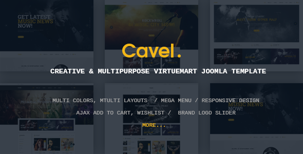 Vina Cavel - Creative and Multipurpose VirtueMart Joomla Template