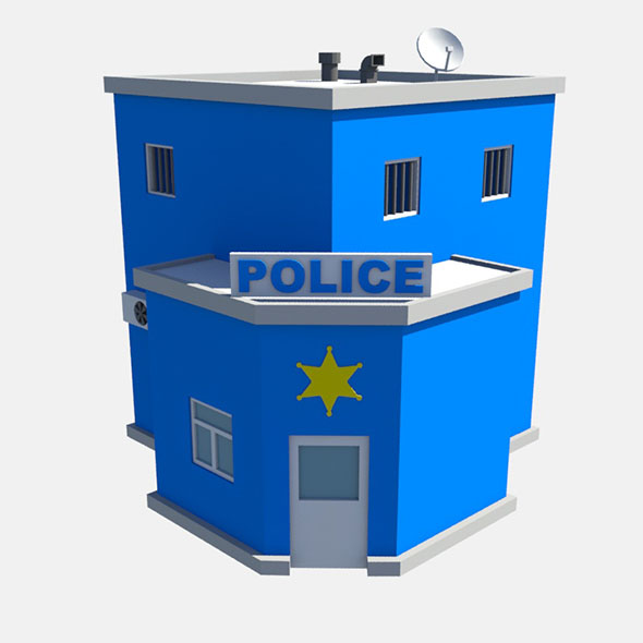 low poly police - 3DOcean Item for Sale