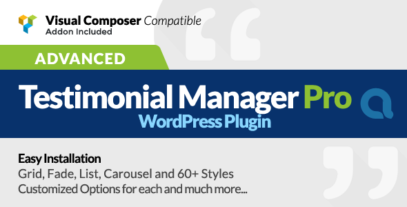 Advanced Testimonials Manager Pro WordPress Plugin
