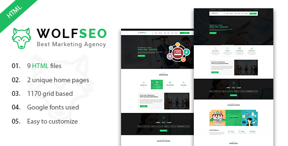 WOLFSEO - Digital Marketing Agency HTML Template