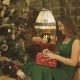 Girl Unpacks Gift Box