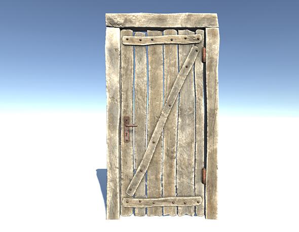 Door Set - 3DOcean Item for Sale