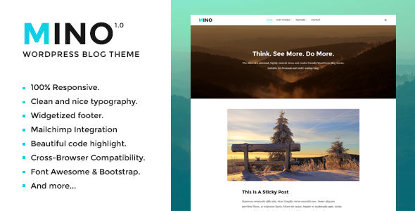 Mino Blog - Content Focused WordPress Blog Theme (Personal) Mino Blog – Content Focused WordPress Blog Theme (Personal) preview