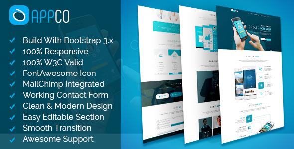 Download APPCO - HTML5 App Landing Template nulled download