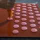 Confectioner with Pastry Syringe Does Cookies the Same Size Before Baking in the Kitchen. Raw