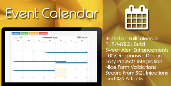 Download Event Calendar - PHP/MYSQL Plugin nulled download