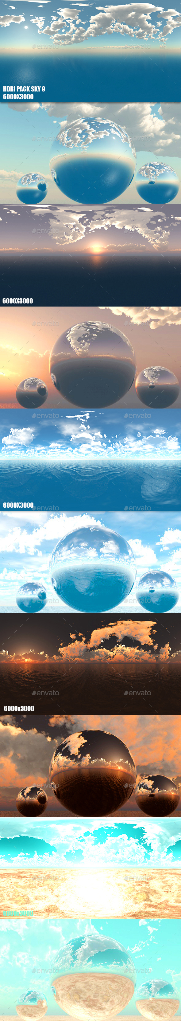 HDRI Pack Sky 9 - 3DOcean Item for Sale