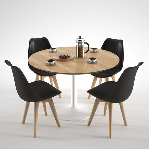 Habitat Lance Dining Table - 3DOcean Item for Sale