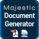 Majestic - Document generator from template. Create custom contracts and invoices