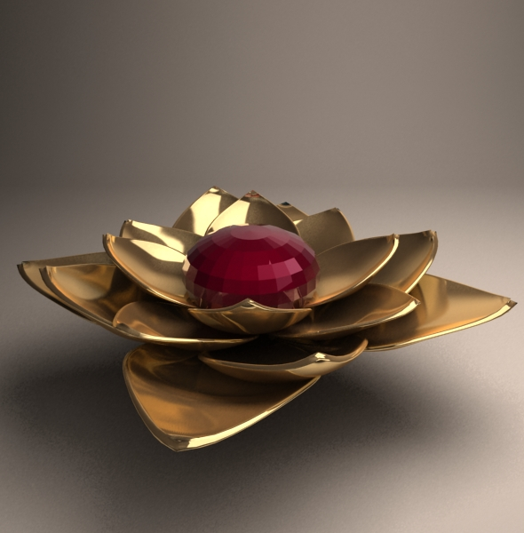 Golden Flower - 3DOcean Item for Sale