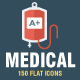 Medical & Health Flat Icons