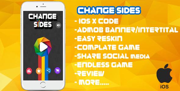Download Change Sides  XCODE + Admob + Complete Game + Review + Share + Endless Game nulled download