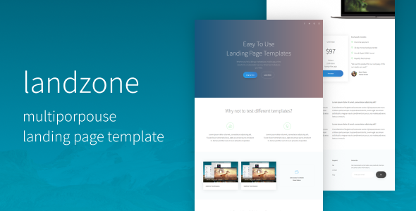 Download Landzone | The Multi-Purpose Landing Page Template nulled download