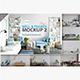 Wall & Frames Mockup - Pack Vol. 2