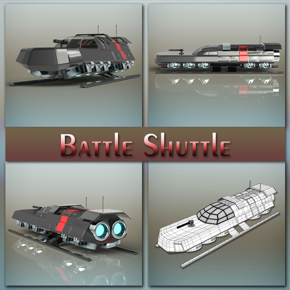 Battle Shuttle - 3DOcean Item for Sale