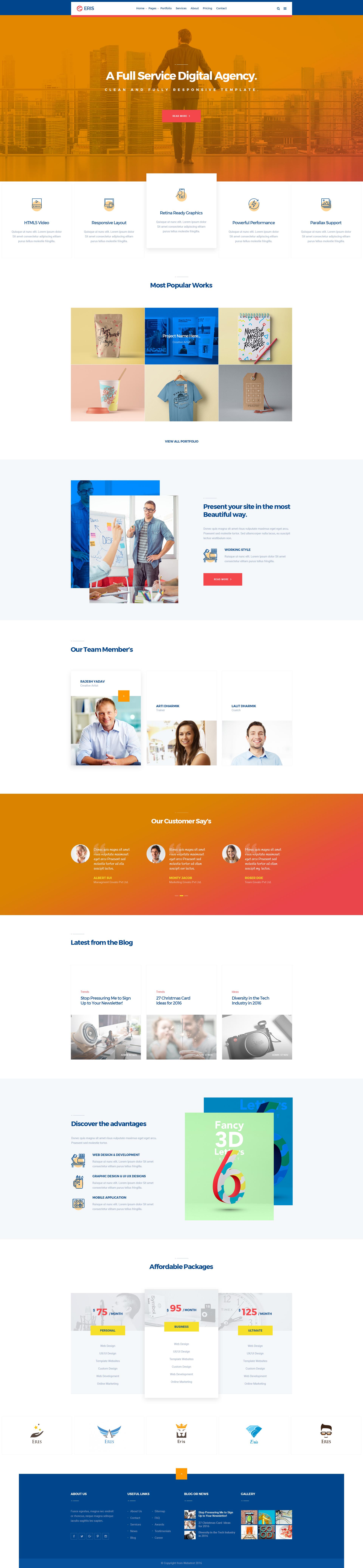 ERIS -Design Studio Marketing Agency PSD Template