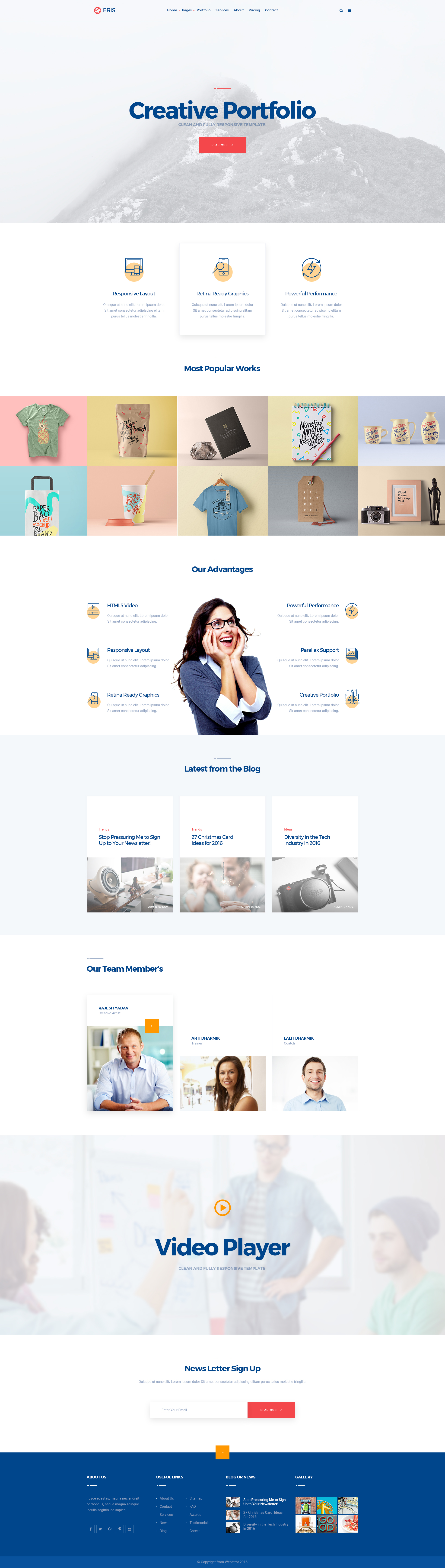 ERIS -Design Studio Marketing Agency PSD Template