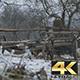 Ancient Cart Outdoor in Snow