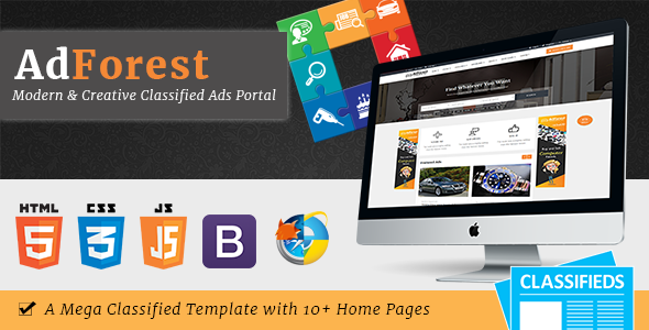 AdForest – Biggest Classified Marketplace Advertisements Template (Company)