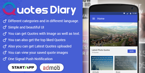 Download Quotes Diary - Android App nulled download