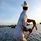 Vietnamese Ttraditional Fishing Boat-Baskets