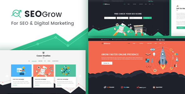 Download SEO Grow - SEO, Online Digital Marketing, Growth Hacking WordPress Theme nulled download