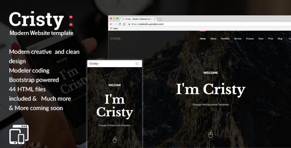 Cristy - Modern Website template
