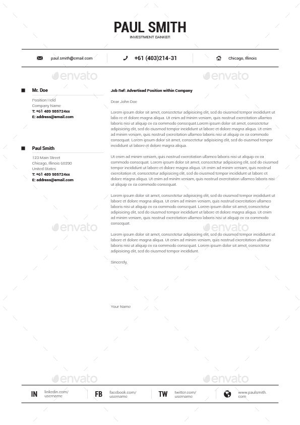 simple resume cv volume 8 by paolo6180 graphicriver