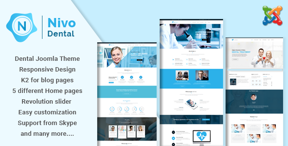 Nivo - Responsive Multi-Purpose Joomla Theme