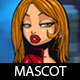 Mafia Girl Cartoon Mascot