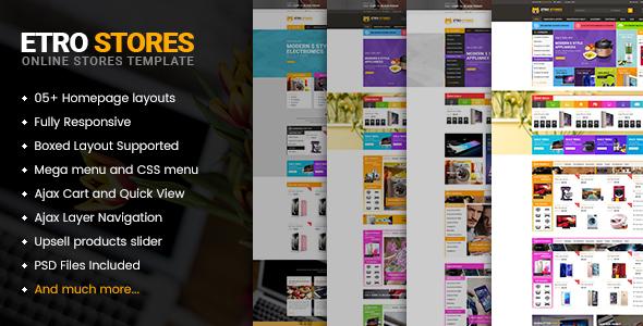 Etrostore - Multipurpose Responsive WooCommerce WordPress Theme