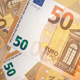 Banknotes of Fifty Euros Zoom