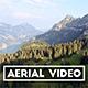 Revealing Aerial Shot of a Swiss Mountain Range