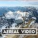 Aerial Revealing Shot of Swiss Mountain Lake