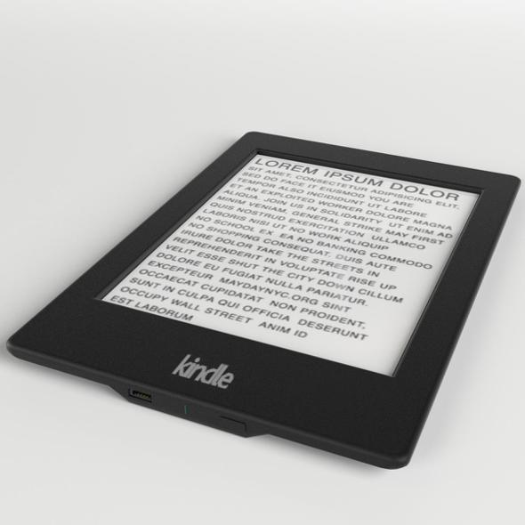 Amazon Kindle Paperwhite ebook reader - 3DOcean Item for Sale