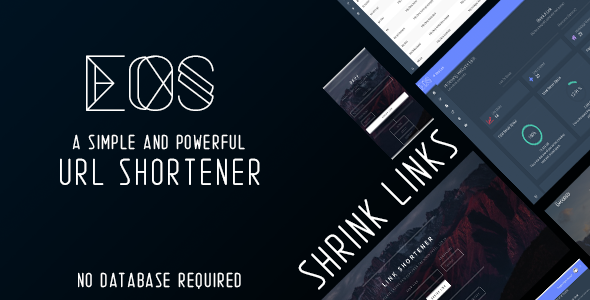 Download Eos - A Simple And Powerful URL Shortener nulled download