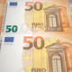 Fifty Euros Banknotes Money