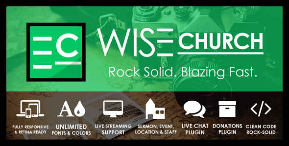 Wise Church – The Wisest Multi-Purpose Church WordPress Theme