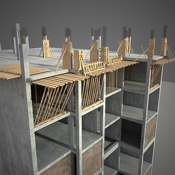 Construction Building - 3DOcean Item for Sale