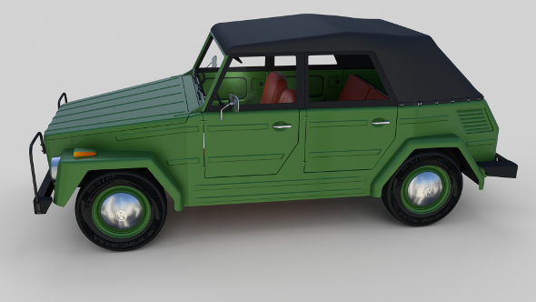 VW Type 181 with interior top up - 3DOcean Item for Sale